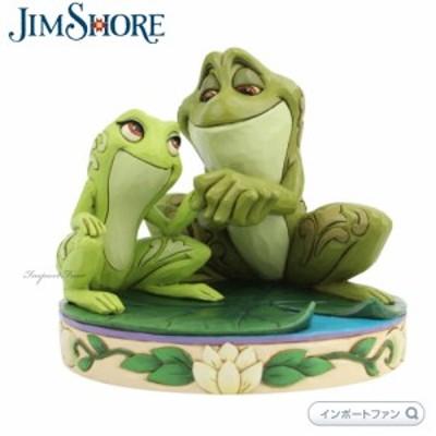 ジムショア プリンセスと魔法のキス ティアナ ナビーン王子 カエル 6005960 Tiana and Naveen as Frogs Disney JimShore