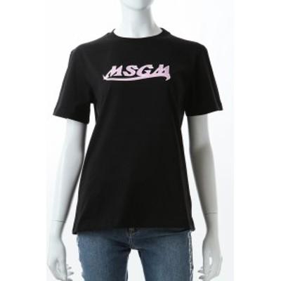 エムエスジーエム MSGM Tシャツ 半袖 丸首 クルーネック 3041MDM173217298 99 ブラック レディース (041MDM173217298) 送料無料 2021年春