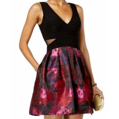 ファッション ドレス Xscape NEW Black Womens Size 12P Petite V-Neck Jacquard A-Line Dress