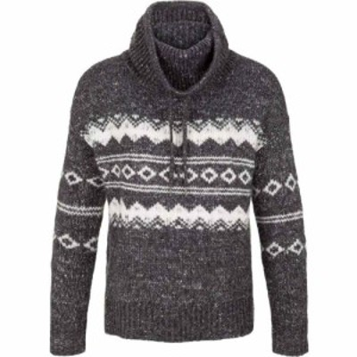 トリバル Tribal レディース ニット・セーター トップス Long Sleeve Jacquard Cowl Neck Sweater Heather Charcoal