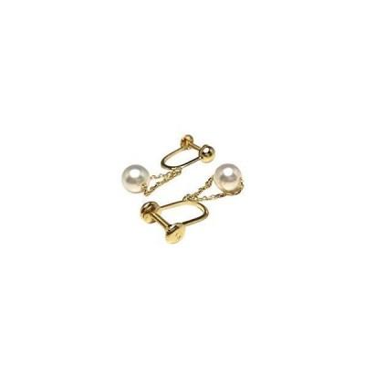 Isowa Pearl(伊勢志摩の真珠専門店 イソワパール) アコヤ真珠 イヤリング 5.7mm ホワイトピンク K18 イエローゴールド