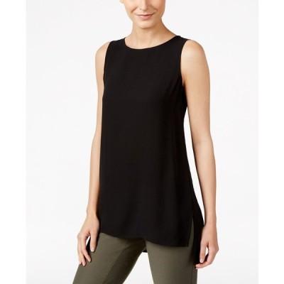 エイリーンフィッシャー ニット&セーター アウター レディース Silk High-Low Tunic, Regular & Petite Black