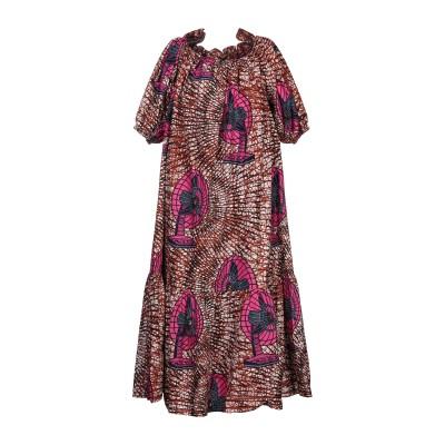 ステラ マッカートニー STELLA McCARTNEY 7分丈ワンピース・ドレス ダークブラウン 38 コットン 100% 7分丈ワンピース・ドレス