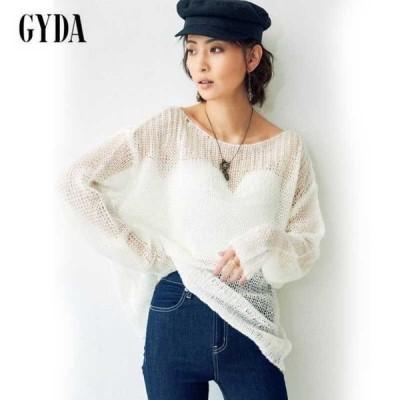 GYDA ジェイダ 通販 透かしニットTOPS 072122620201
