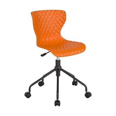 Emma + Oliver Contemporary Design Orange Plastic Task Office Chair並行輸入品
