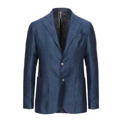 FEFĒ テーラードジャケット ブルー 56 麻 100% テーラードジャケット