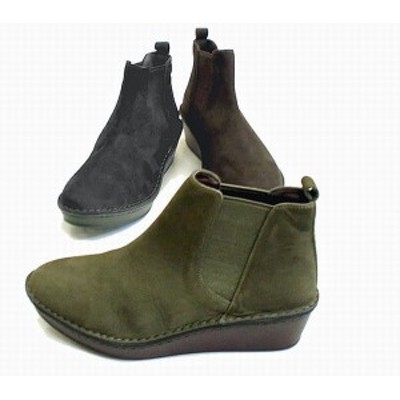 サイドゴアブーツ ブーツ レディースシューズ レディースファッション 靴 起毛素材 サイドゴア ブーティー 22.0 24.5 2色展開 天然皮革