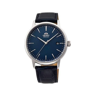 (新品) Orient RA-AC0E04L Men's Maestro Leather Band Minimalist Blue Dial Automatic Watch