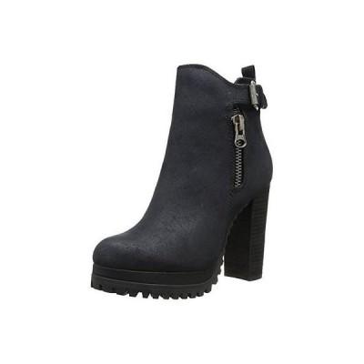 海外セレクション ブーツ シューズ 靴 Rebels 2358 レディース Rb-Zen ブラック Faux スエード ブーティーs ハイヒール 8 ミディアム (B,M) BHFO