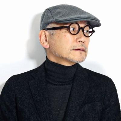 ハンチング メンズ DAKS ウール100% 帽子 ダックス ハンチング帽子 アイビーキャップ 毛 紳士帽子 秋 冬 日本製 高品質 グレー
