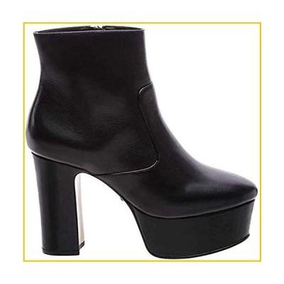 Schutz Maralara Black Nappa Leather High Platform Retro Ankle Bootie (9.5)