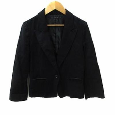 【中古】シップスリトルブラック ジャケット テーラード ショート 長袖 シングル 総裏地 M 黒 ブラック レディース