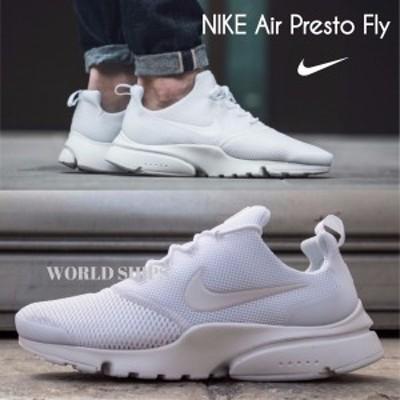 プレスト ナイキ スニーカー Nike Air Presto Fly トリプルホワイト【海外限定・正規品】