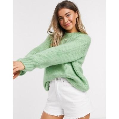 エイソス レディース ニット・セーター アウター ASOS DESIGN chunky sweater in green