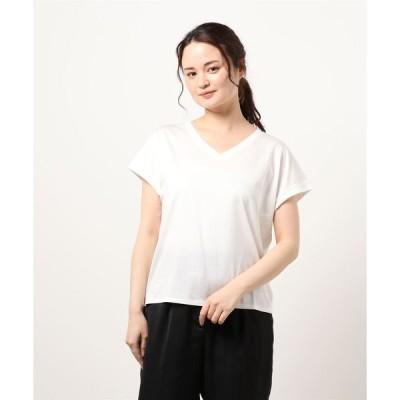 tシャツ Tシャツ リヨセルコットンVネックカットソー<BASIC>