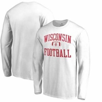 Fanatics Branded ファナティクス ブランド スポーツ用品  Fanatics Branded Wisconsin Badgers White Neutral Zone Long Sleeve T-Shirt