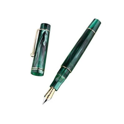 Moonman M800 Green Acrylic Fountain Pen, Germany Bock Fine Nib with Converter and Pen Box Set 並行輸入品