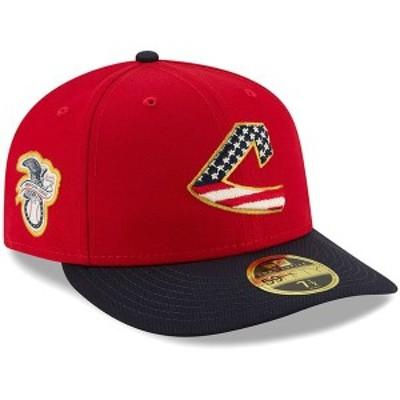 ニューエラ メンズ 帽子 アクセサリー Cleveland Indians New Era 2019 Stars & Stripes 4th of July On-Field Low Profile 59FIFTY Fitt