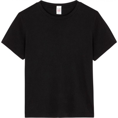 リダン RE/DONE レディース Tシャツ トップス X Hanes Classic Black Cotton T-Shirt Black