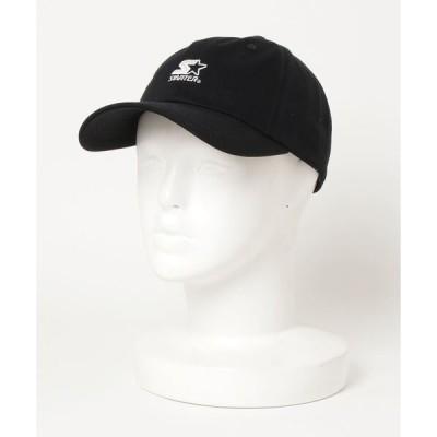 帽子 キャップ 【STARTER/スターター】ワンポイントロゴ刺繍コットンツイルベースボールキャップ