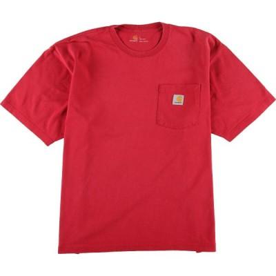 カーハート ワンポイントロゴポケットTシャツ XL /eaa040881