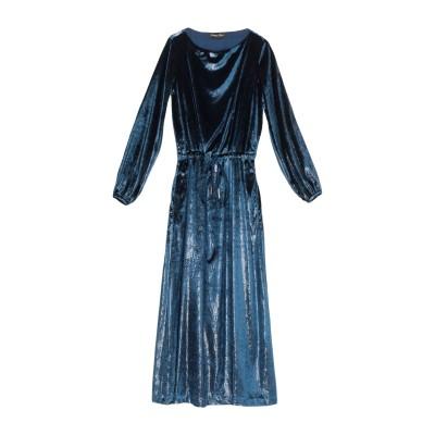 MARIAGRAZIA PANIZZI ロングワンピース&ドレス ダークブルー 40 ポリエステル 100% ロングワンピース&ドレス