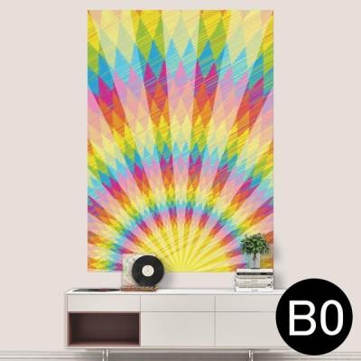 ポステッカー ポスター ウォールステッカー シール式ステッカー 飾り 1030mm×1456mm B0 写真 フォト 壁 虹色 レインボー 013897