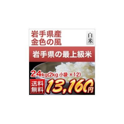 白米 24kg 岩手県産 金色の風 24kg(2kg×12袋)令和2年(2020年) 米袋は真空包装