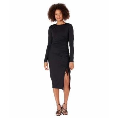 スサナモナコ ワンピース トップス レディース Gathered One Shoulder Long Sleeve Dress Black