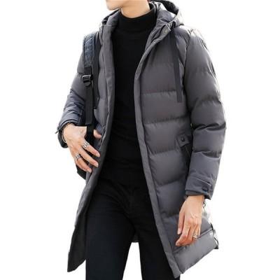 メンズ ロングダウンコート 帽子付き 保温ジャケット 中綿ブルゾン 防風 冬 おおきいサイズ XXXXL ポケットあり ビジネス あったか