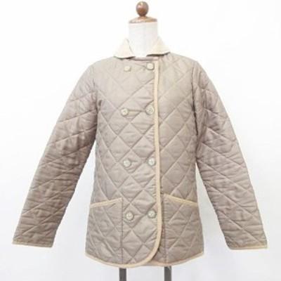 【中古】マッキントッシュ MACKINTOSH ジャケット キルティングジャケト コート 中綿 英国製 ベージュ 32 レディース