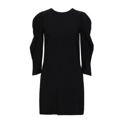 SUOLI ミニワンピース&ドレス ブラック 38 レーヨン 95% / ポリウレタン 5% ミニワンピース&ドレス