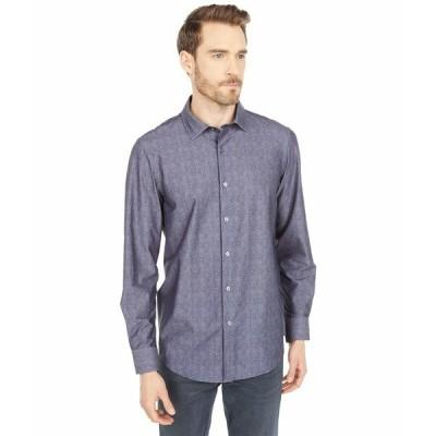 ブガッチ シャツ トップス メンズ Luca Long Sleeve Ooohcotton Tech Shirt Point Collar Charcoal