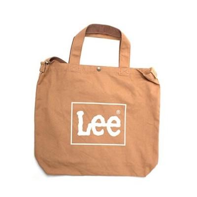 リー Lee コットン ビッグ2wayトートバッグ ショルダーバッグ A4収納 大容量 0425371 BRW