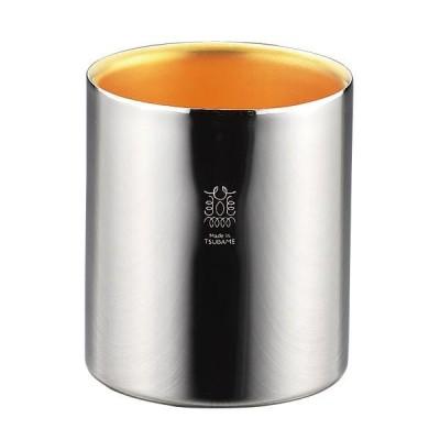 18-8ステンレスW構造タンブラー(内面24金メッキ) TM-039 おしゃれ 珈琲 かわいい ミラー仕上げ 24金メッキ コーヒー 贈り物 ギフト シンプル 食器 日本製