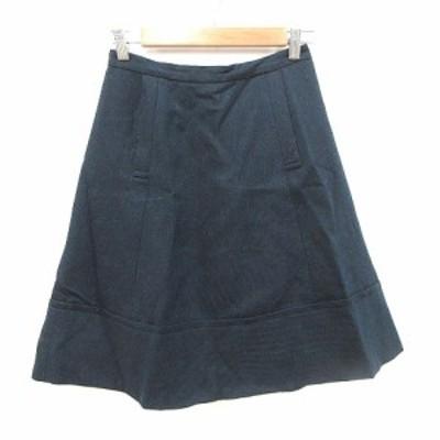 【中古】マークバイマークジェイコブス 台形スカート ひざ丈 ヘリンボーン柄 2 紺 ネイビー レディース