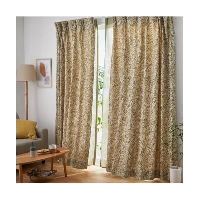 【1cm単位オーダー】ナチュラルで繊細なリーフ柄ジャガード織カーテン(1枚) ドレープカーテン(遮光あり・なし) Curtains, blackout curtains, thermal curtains, Drape(ニッセン、nissen)
