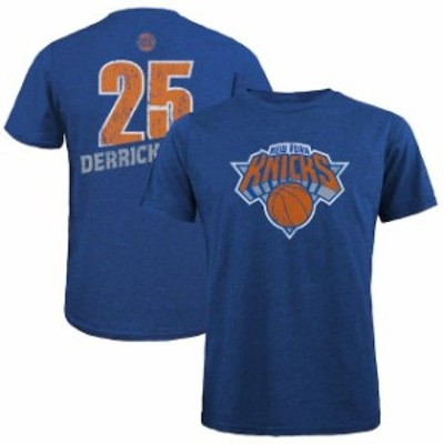 Majestic Threads マジェスティック スレッド スポーツ用品  Majestic Threads Derrick Rose New York Knicks Royal Name & Number Tri-B