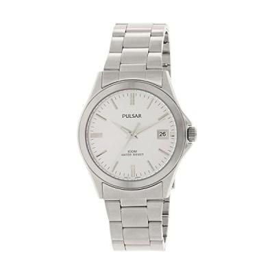 Men's Stainless Steel Dress Watch Silver Dial 並行輸入品