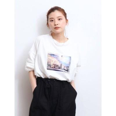 tシャツ Tシャツ フォトデザインロゴロングスリーブTee