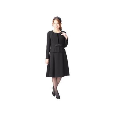 ブラックフォーマル レディース 喪服 アンサンブル ワンピース 礼服 洗える 冠婚葬祭 m433