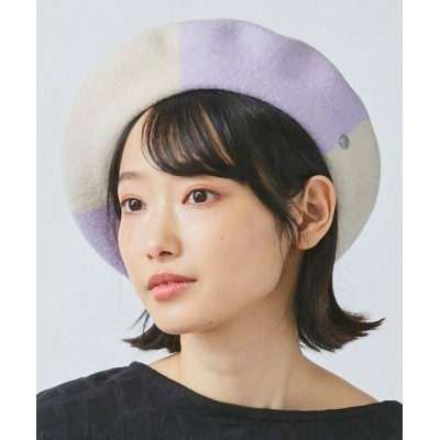 OVERRIDE / 【OVERRIDE】  BASQUE COLOR  PANEL BERET / 【オーバーライド】 バスク カラー パネル ベレー WOMEN 帽子 > ハンチング/ベレー帽