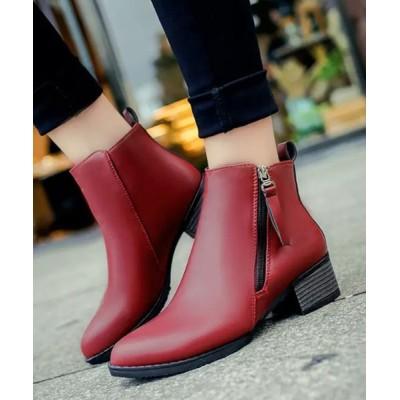 STYLEBLOCK / サイドジップPUレザーショートブーツ WOMEN シューズ > ブーツ