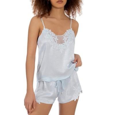 インブルーム レディース ナイトウェア アンダーウェア Satin & Lace Shorty Pajama Set