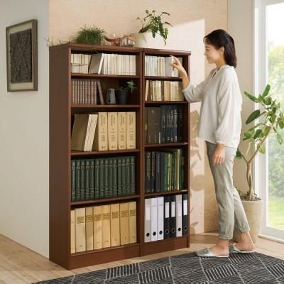 色とサイズが選べるオープン本棚 幅59.5cm高さ150cm ナチュラル