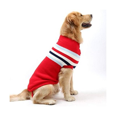 Wei&H Dog Clothes pet Clothes Autumn and Winter Clothes Sleeveless Medium and Large Dog Sweaters Golden Retriever Samoyed Husky Dog ??Sweater Big