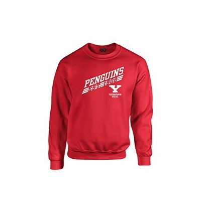 NCAA Youngstown State Penguins 50?/50?Blended S、レッド、8オンスクルネックスウェットシャツ
