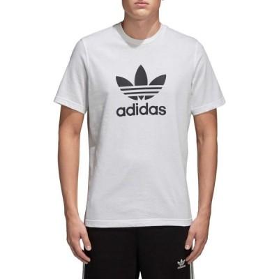 アディダス adidas メンズ Tシャツ トップス Originals Trefoil Graphic T-Shirt White