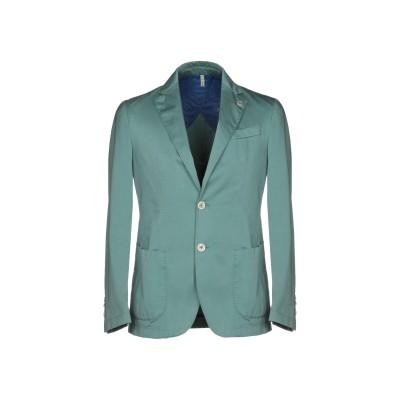 DOMENICO TAGLIENTE テーラードジャケット ターコイズブルー 48 コットン 97% / ポリウレタン 3% テーラードジャケット