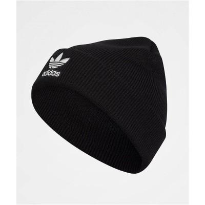 アディダス ADIDAS レディース ニット ビーニー 帽子 adidas Trefoil Black & White Beanie Black